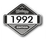 VIntage Edition 1992 Classic Retro Cafe Racer Design External Vinyl Car Motorcyle Sticker 85x70mm